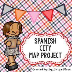 """Spanish City Map Project requiring students to sketch and label an imaginary city and construct 10 sentences using the verb """"ir"""", with days of the week."""