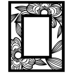Silhouette Design Store - View Design #56096: flower frame