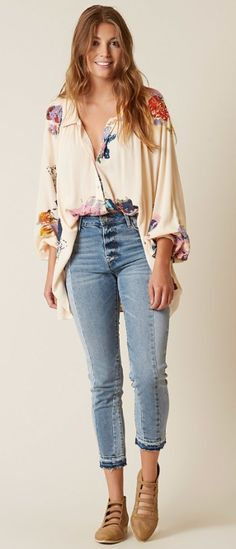 Boho Outfits : Free People Meadowlark Shirt | Buckle