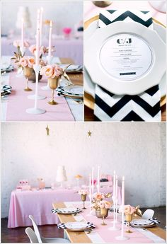 Gorgeous tablescape! Love the addition of the bold chevron pattern.