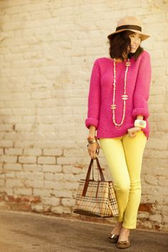 I LOVE these bright colors together and all things Chanel! Perfect combo for spring