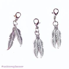 Have seen all the new charms over on www.unicornplanner.com?  Just look at these gorgeous feather charms!  These are perfect to hang on your TNs!