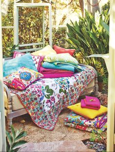 New Spring Bedding Collection featuring Cost Plus World Market's Simone Reversible Quilt >> #WorldMarket Home, Bedroom Decor Ideas, Bedding