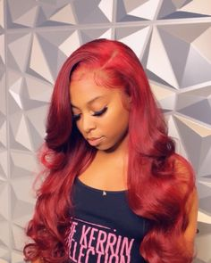 Red Wigs Lace Frontal Wigs Auburn Red Hair Dark Red Lace Front Wig Human Hair Auburn Hair With Lowlights African American Grey Wigs Tan Red Heads Baddie Hairstyles, Weave Hairstyles, Cool Hairstyles, Casual Hairstyles, Medium Hairstyles, Burgundy Hairstyles, Latest Hairstyles, Red Lace Front Wig, Auburn Red Hair