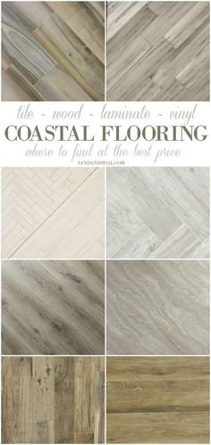 Best Flooring for a Beach House - Where to get premium tile, wood, luxury vinyl, and bamboo with lots of pics of coastal rooms. These weathered wood looks are gorgeous. ~sponsored (Outdoor Basement Step)