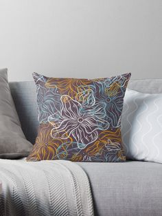 Mystery Flowers  Throw Pillows