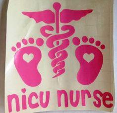 NICU Nurse decal!!! Rn Nurse, Nurse Humor, Nurse Stuff, Surgical Nursing, Neonatal Nursing, Nurse Car Decal, My Future Career, Nurse Practitioner, Baby Play