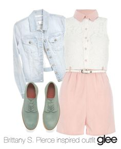 Brittany S. Pierce inspired outfit/Glee by tvdsarahmichele on Polyvore featuring Quiz, Grenson, glee, BrittanyPierce and heathermorris