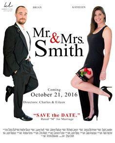 "Save the Date ""Mr & Mrs Smith"" theme!  wedding invite  Kimberly Lyddane Photography, LLC #wedding #Lyddanephoto #photography  #engagement"