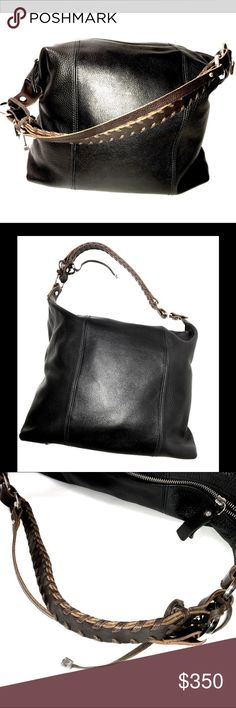 28e6f8d8e07f5 Pauric Sweeney Purse 195097 Leather Black and Brown Dust Bag Included Rope  Handle - Leather 14