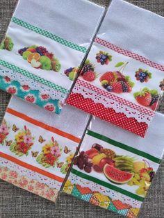 Dish Towel Crafts, Dish Towels, Pot Holders, Napkins, Tableware, Mascara, Bathroom Crafts, Creative Crafts, Craft Ideas