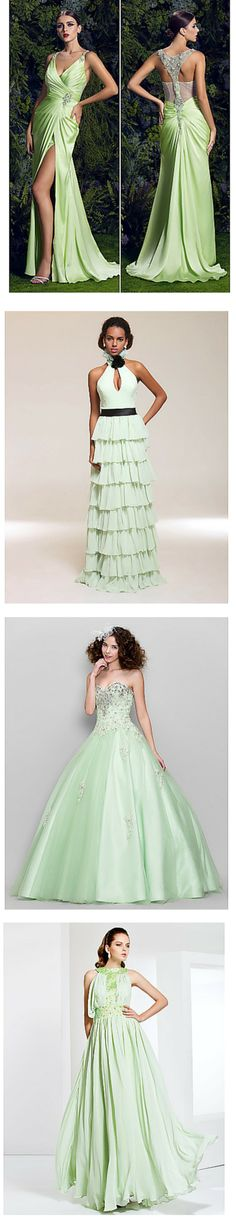 Sage is a lovely color for a spring prom! Get these dresses (and MORE) in this amazing shade by clicking the image!