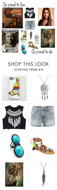 """""""Indian Reservations - Paul Revere & The Raiders"""" by ballerinahippie on Polyvore featuring Columbia, American Coin Treasures, WithChic, Frame, Catherine Catherine Malandrino and Bling Jewelry"""