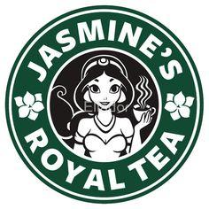 Starbucks Jasmine's Royal Tea Starbucks Logo, Disney Starbucks, Starbucks Coffee, Arte Disney, Disney Art, Disney Pixar, Aladdin And Jasmine, Jasmine Tea, Princess Jasmine