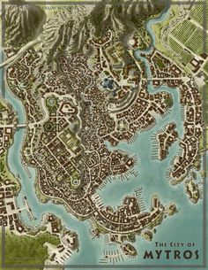 City of Mytros [Odyssey of the Dragonlords] by SirInkman on DeviantArt # . City of Mytros [Odyssey of the Dragonlords] by SirInkman on DeviantArt Fantasy City Map, Fantasy World Map, Fantasy Places, Medieval Village, Village Map, Rpg Map, City Layout, Dungeon Maps, Fantasy City