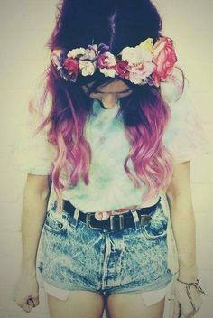 tumblr fashion Flower Crowns 9a1ff3e0a380