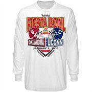 UCONN Huskies vs. Oklahoma Sooners White 2011 Fiesta Bowl Dueling Long Sleeve T-shirt