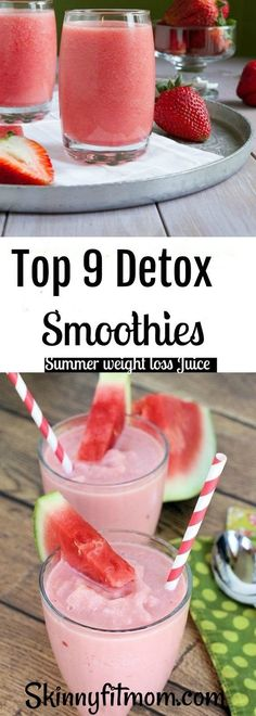 Top 9 Detox Smoothie Recipes for Quick Weight Loss that are perfect to kick-start a healthy diet plan. Best of all, they are paleo, whole 30, banana and sugar free!