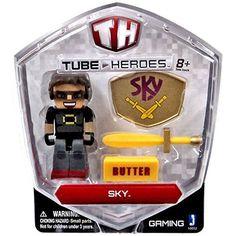 SKY TNT Friends of DANTDM DANTDM NEW: Lot of 3 Tube Hero Plush Toys: JEROME