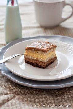 Slatko s Dolcelom: Kremaste kocke s keksima | Bite my cake(krema sa pudingom bourbon vanilija)