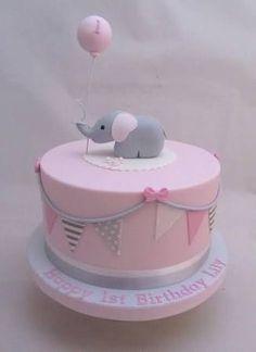 תוצאת תמונה עבור 1st birthday cake girl