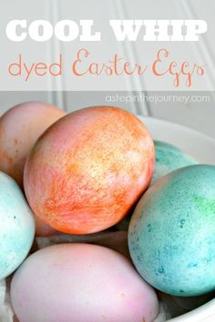 Dying Easter eggs with Cool Whip #coolwhip #easter #tutorial