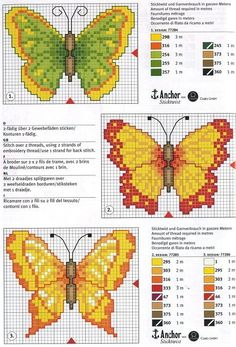 Butterfly cross stitch chart by Ann Jefferies