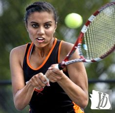 Dilina Patel played first singles for Central. York Catholic vs. Central York girls tennis, Tuesday, August 27,2013.  Bil Bowden photos