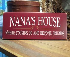 Wood Wall Sign Nana's House Grandmother Plaque by CountryWorkshop, $16.95
