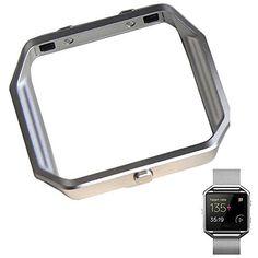 Fitbit Blaze Zubehörteil Rahmen/ Accessory Frame , Metall Edelstahl, Taotree Ersatz Platz Uhrrahmen Lünette Gehäuse Hülle Mit Knopf für Fitbit Blaze, Silber , http://www.amazon.de/dp/B01E14CCFG/ref=cm_sw_r_pi_dp_nzIxxb833FVRR