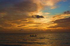 Man fishing at dawn in Florida