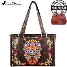 MW326G-9220 Montana West Sugar Skull Collection Handbag - Sugar Skull - Handbag