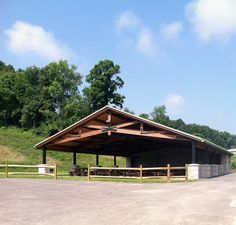 The farm's pavilion sits on the hill above the property. It has 16 picnic tables (seats 128), men's and women's restrooms, drinking fountains, a food staging area with running water, a horseshoe pit and volleyball area. There are 2 handicapped parking spaces  within walking distance and a roundabout to drop off food, supplies, and people!   Flickr - Photo Sharing!