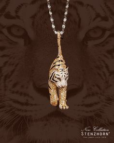 Express it with your body - impress it on your soul — Our new collection by STENZHORN ☮ * ° ♥ ˚ℒℴѵℯ cjf Cat Jewelry, Animal Jewelry, Pendant Jewelry, Silver Jewelry, Fine Jewelry, Jewelry Design, Jewellery, Mens Gemstone Rings, Gold Chains For Men