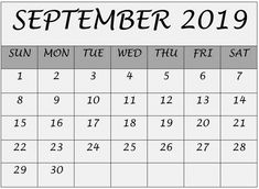 September Calendar 2019 Printable Notes and To Do list Calendar 2019 Printable, Blank Calendar, Calendar 2020, Calendar 2019 With Holidays, September Calendar, Busy Life, Months In A Year, Things To Come