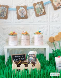 Atta Girl Says | Peter Rabbit Inspired Easter Party Ideas | http://www.attagirlsays.com