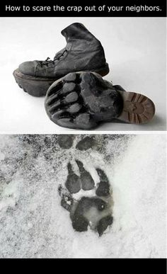 Good lord, I would love to own these shoes.  Of course I couldn't tromp around them in snow, it would have to be mud
