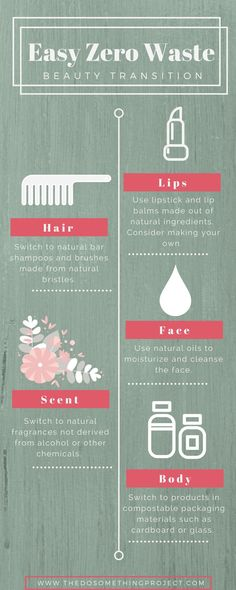 Tips to transitioning your beauty and makeup routine to something less wasteful and chemically harmful.