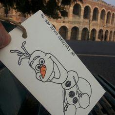 Olaf va in città! Gennaio 2016. Verona. #goccegentili