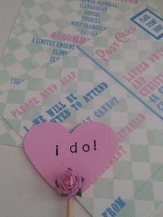 Alice wedding invitations
