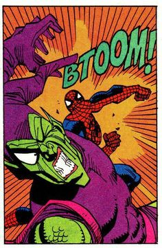 Spider-Man vs Green Goblin - Sal Buscema (Resize to large canvas, Man Cave decor) Arte Dc Comics, Marvel Comics Art, Old Comics, Marvel Villains, Marvel Heroes, Marvel Characters, All Spiderman, Amazing Spiderman, Wallpaper Animes