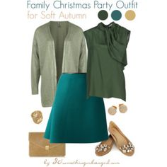 Family Christmas Party Outfit for Soft Autumn