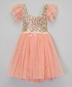 Pink Gold Glitter Tulle Dress -Birthday Girl Dress - Shabby Chic ...