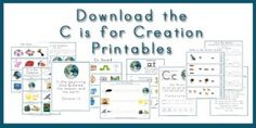 Walk Beside Me LDS Preschool. A free LDS-based letter of the week curriculum. C is for Creation