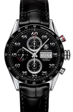 TAG Heuer 'Carrera' Automatic Tachymeter Watch available at #Nordstrom