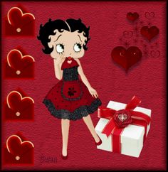 Betty Boop Pictures Archive: Betty Boop Valentine animated gifs