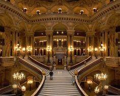 "Grand staircase of the Palais Garnier opera house (Paris, France). The Palais Garnier is the main setting for Gaston Leroux's ""The Phantom of the Opera"" Grand Staircase, Staircase Design, Stairs, Double Staircase, Grand Foyer, Grand Entrance, Grande Cage D'escalier, Charles Garnier, Old Mansions"