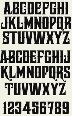 Font set includes 4 fonts: Regular, Spurs, Distressed and Shadow. Tattoo Lettering Fonts, Hand Lettering Alphabet, Lettering Design, Vintage Fonts, Vintage Typography, Graphics Vintage, Vector Graphics, Handwriting Fonts, Cursive Fonts