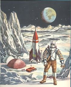 """Dreams of Space"" vintage children's book illustrations!krustelkram.blogspot.com"