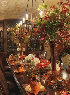 Antique Tablescapes |  Fall Tabletop ideas | www.inessa.com